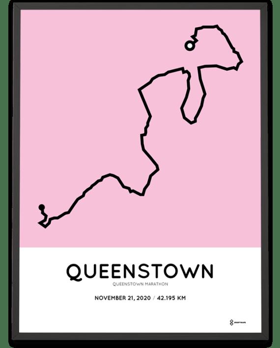 2020 Queenstown marathon course poster