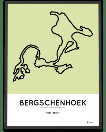 MTB Bergschenhoek parcous poster