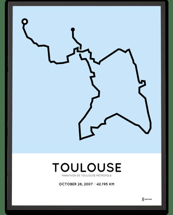 2007 Marathon de Toulouse parcours poster