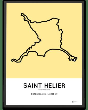 2016 Jersey marathon course poster