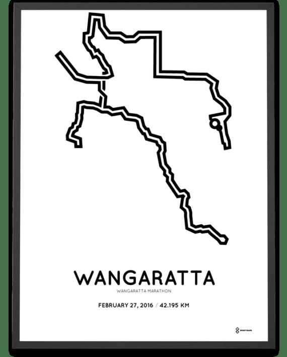2016 Wangaratta marathon routemap print