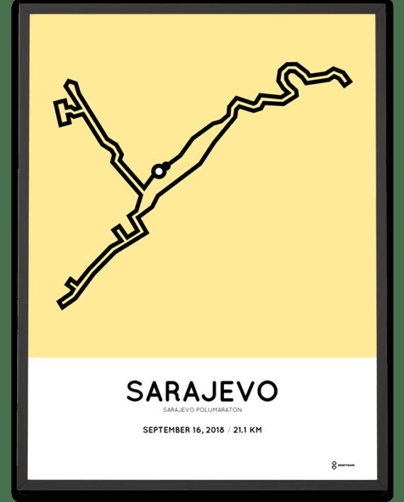 2018 Sarajevo half marathon course poster