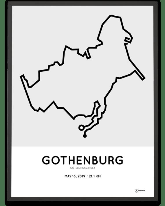 2019 Goteborgsvarvet course poster