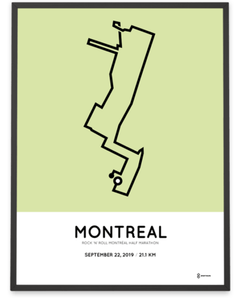 2019 Montreal half marathon parcours poster