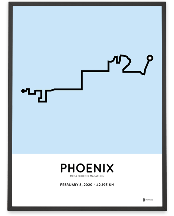 2020 Phoenix marathon course print