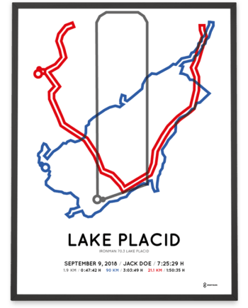 2018 Ironman 70.3 Lake Placid course poster