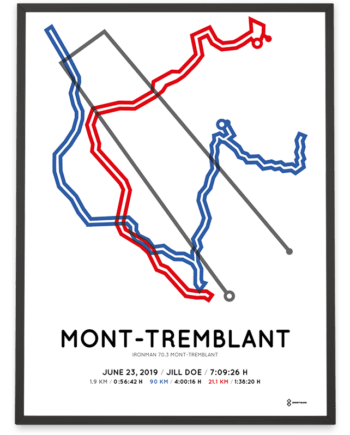 2019 Ironman 70.3 Mont-Tremblant course poster