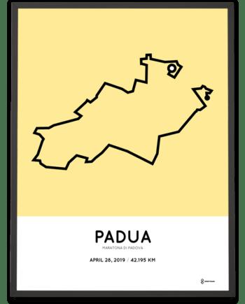 2019 Padua marathon course poster