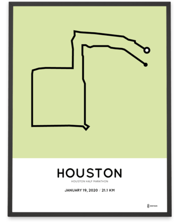 2020 Houston half marathon course poster