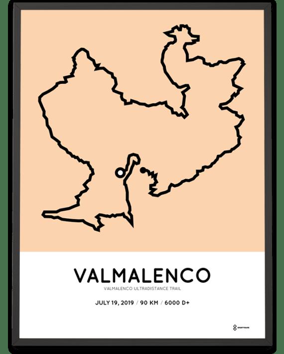 2019 Valmalenco Ultradistance trail 90km course poster