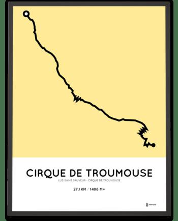 Cirque de Troumouse from Luz-Saint Sauveur parcours poster