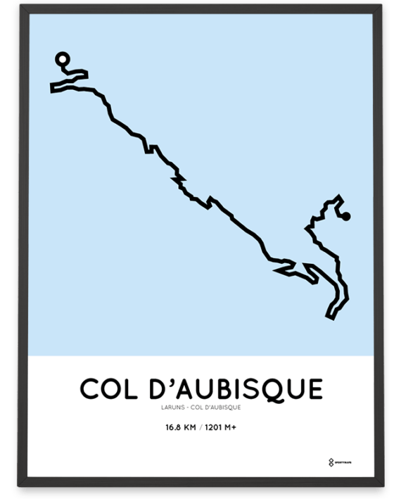 Col d'Aubisque from Laruns course poster