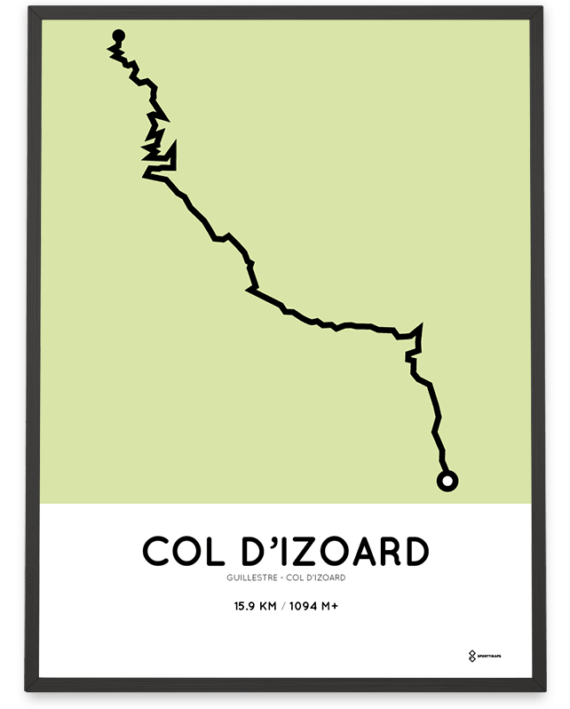 Col d'Izoard from Guillestre course print sportymaps
