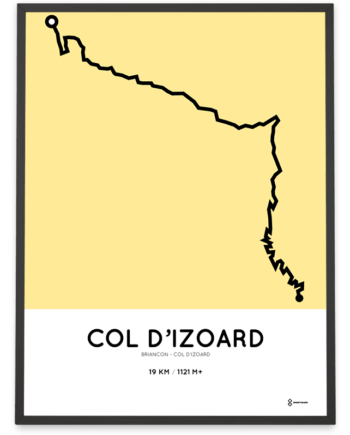 Col d'Izoard parcours from Briancon poster