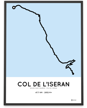 Col de L'Iseran from Bourg saint maurice course poster