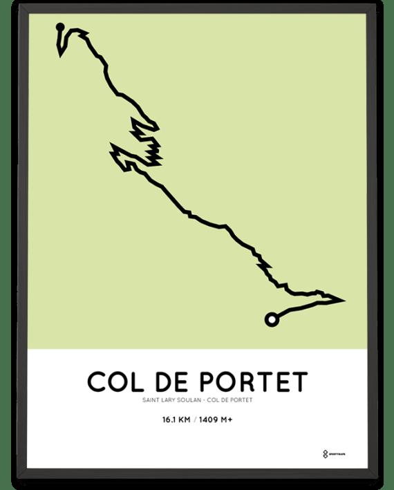 Col de Portet from Saint-Lary-Soulan parcours racetrace print