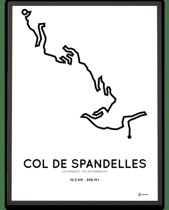Col de Spandelles starting in Las Ganques parcours print