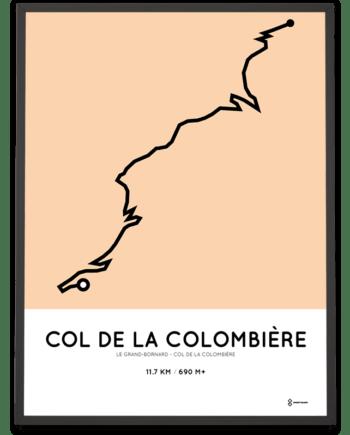 Col de la Colombiere from Le Grand-Bornard parcours poster