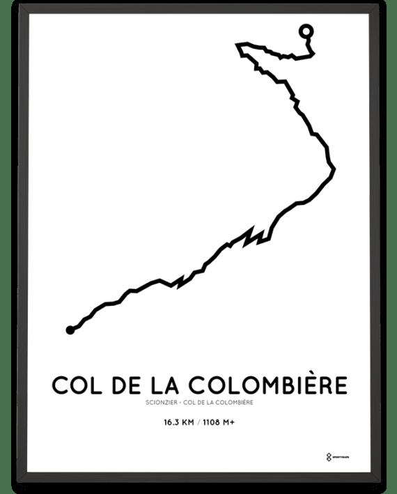 Col de la Colombiere from Scionzier routemap poster