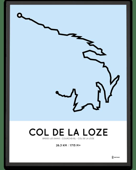 Col de la Loze via Courchevel parcours poster