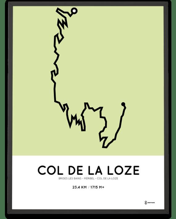 Col de la Loze course via Meribel print