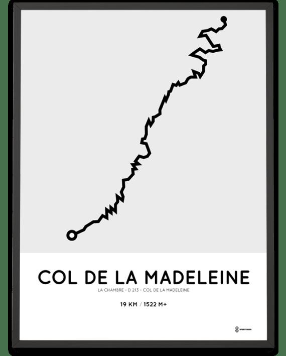 Col de la Madeleine course via D213 poster