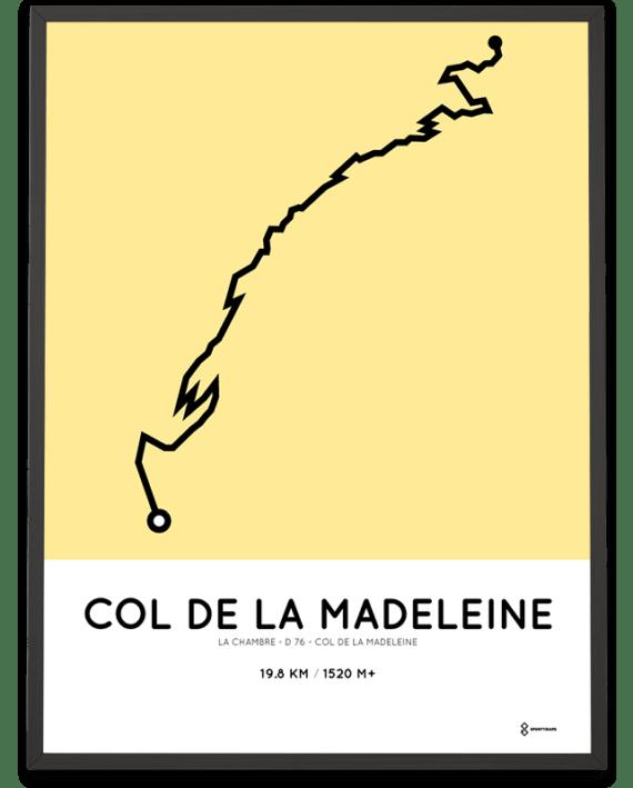 Col de la Madeleine via the D76 parcours poster