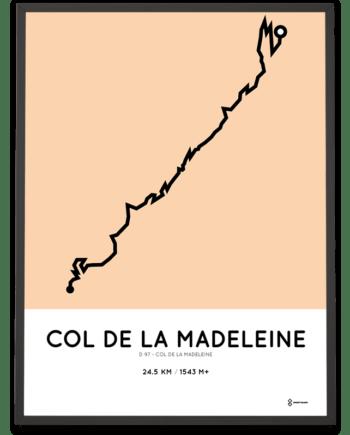 Col de la Madeleine via D97 routemap print
