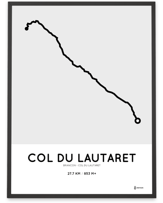 Col du Lautaret from Briancon parcours sportymaps print