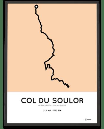 Col du Soulor from Arthez d-Asson routemap print