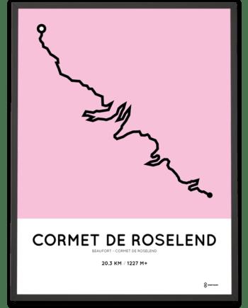 Cormet de Roselend parcours poster