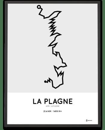 La Plagne parcours sportymaps poster