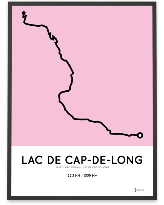 Lac de Cap-de-Long from Saint-Lary-Soulan parcours poster