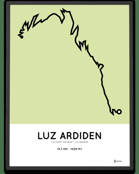 Luz Ardiden from Luz Saint Sauveur parcours poster