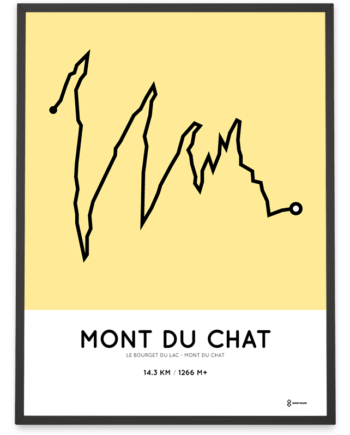 Mont du Chat from Le Bourget du Lac parcours poster