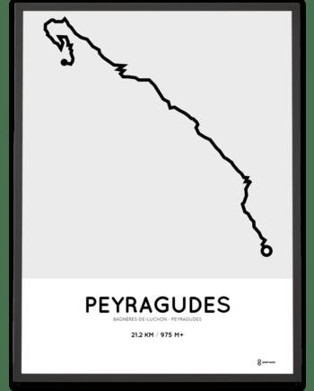 Peyragudes from Bagnères-de-Luchon parcours poster