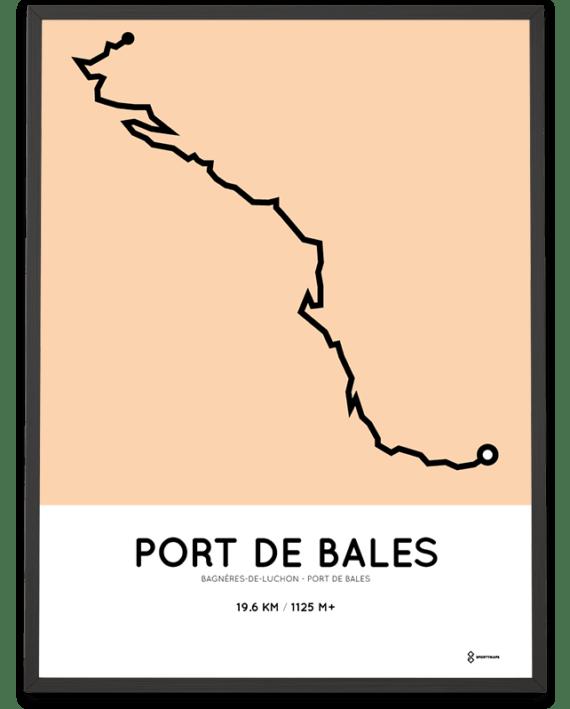 Port de Bales from Bagnères-de-Luchon coursemap print