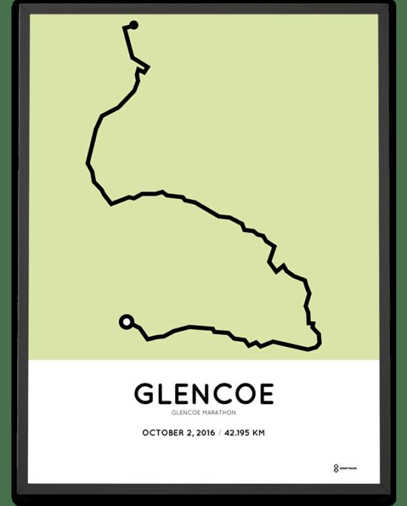 2016 Glencoe marathon racetrace poster