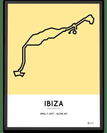 2017 Ibiza marathon course poster