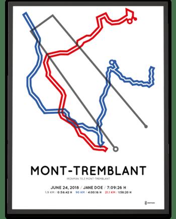 2018 Ironman 70.3 Mont-Tremblant sportmap print