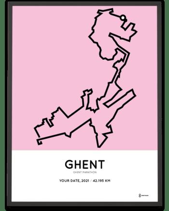 2021 Ghent marathon parcours poster
