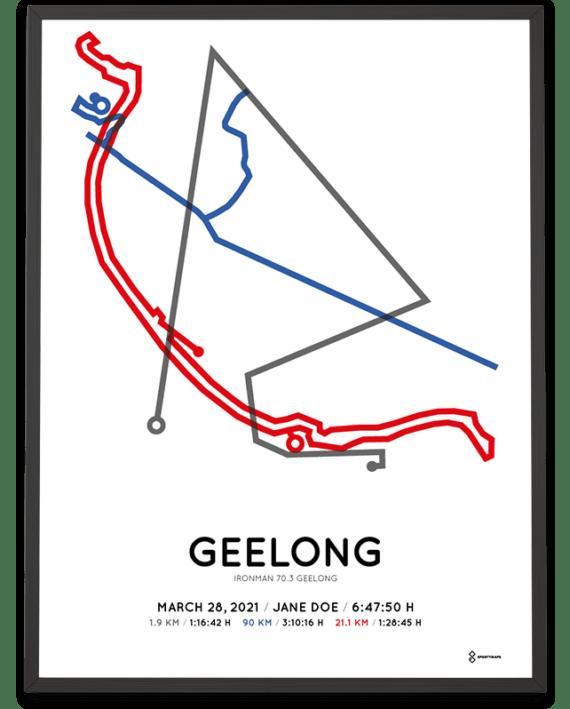 2021 Ironman 70.3 Geelong sportymaps poster