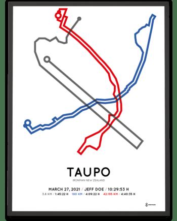 2021 Ironman Taupo routemap print