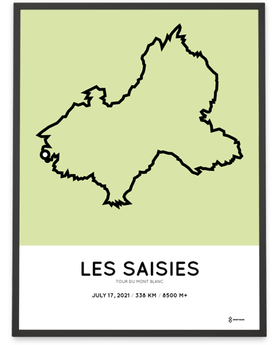 2021 Tour du Mont Blanc parcours poster