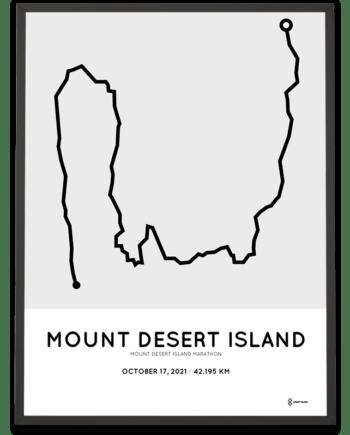 2021 Mount Desert Island marathon course poster