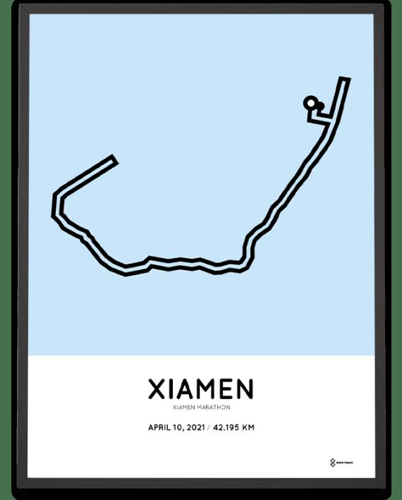 2021 Xiamen marathon course poster
