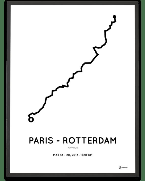 2013 Roparun Paris-Rotterdam route print