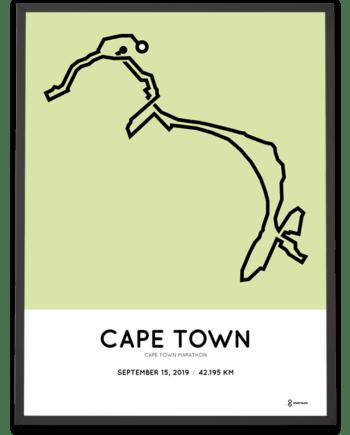 2019 Cape Town Marathon course poster