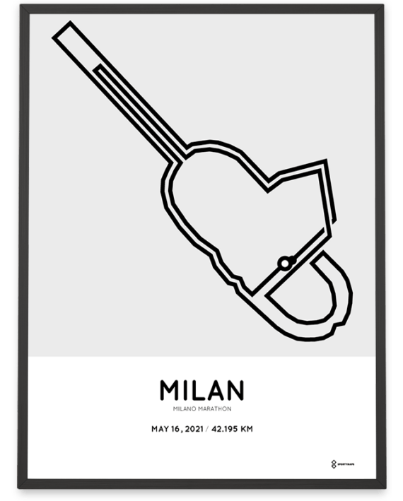 2021 Milano marathon course poster