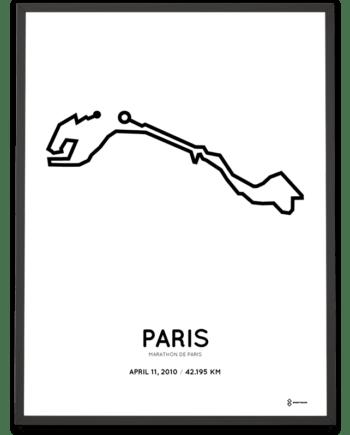 2010 Marathon de Paris parcours sportymaps print